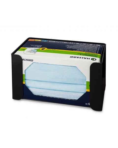 FlexiStore Open Flex Fill Earloop Face Mask Dispenser - 1 Box - Black