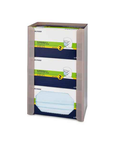 FlexiStore Open Flex Fill Earloop Face Mask Dispenser - 3 Boxes - Sand