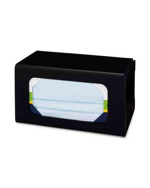 FlexiStore Enclosed Flex Fill Earloop Face Mask Dispenser - 1 Box - Black