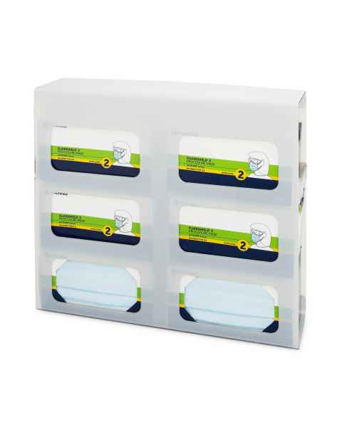 FlexiStore Side Fill Earloop Face Mask Dispenser - 6 Boxes - Salt