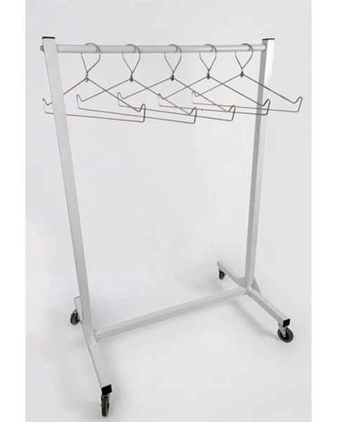 "Garment Style Apron Storage Rack - 48"" Wide"