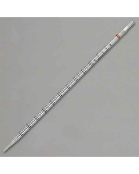 10mL Plastic Serological Pipettes - 345mm - Orange Striped Color Coded