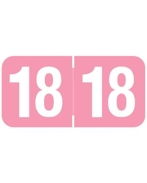 """2018 Year Labels - Ames Compatible - Size 3/4""""H x 1 1/2""""W"""