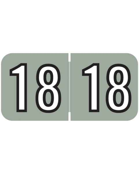 "2018 Year Labels - Barkley Compatible - Size 3/4"" H x 1 1/2"" W"