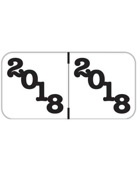 "2018 Year Labels - Jeter Compatible - Size 3/4"" H x 1 1/2"" W"