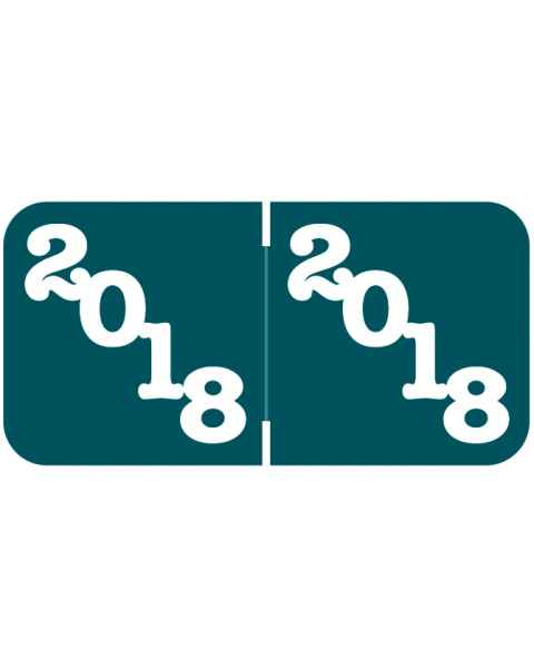 "2018 Year Labels - Jeter Compatible - 3/4"" H x 1 1/2"" W"