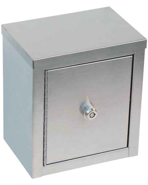 "Mini Double Door, Double Lock Narcotic Cabinet - 9"" H x 8"" W x 5 5/8"" D"