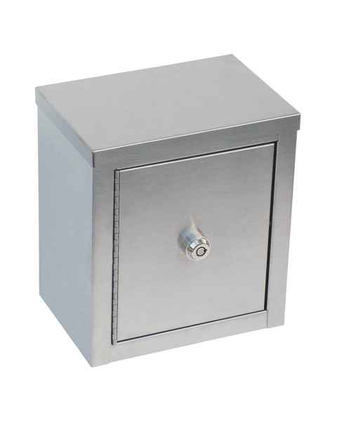 "Mini Double Door, Double Lock Narcotic Cabinet - 9"" H x 8"" W x 5 5/8"" D"