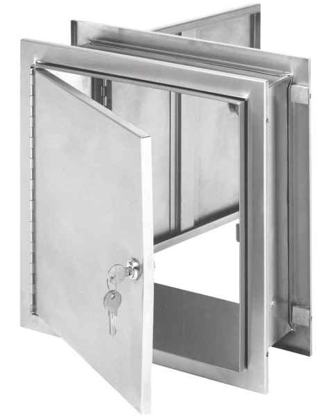 "Pass-Thru Cabinet with Key Lock - 12"" H x 11.5"" W x 6"" D"