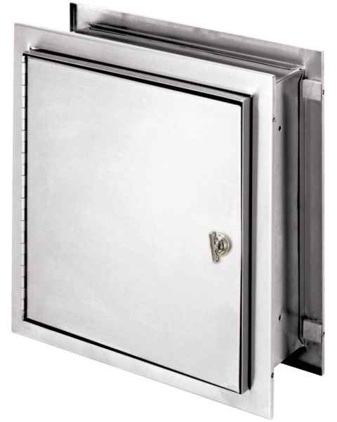"Pass-Thru Narcotic Cabinet with Thumb Latch - 12"" H x 11.5"" W x 6"" D"