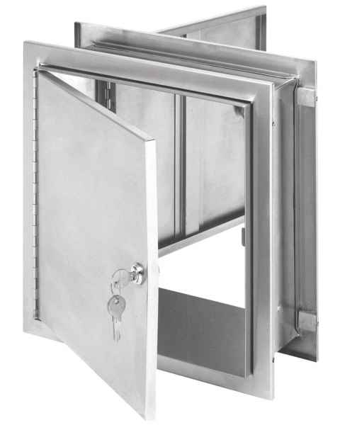 "Pass-Thru Narcotic Cabinet with Key Lock - 12"" H x 11.5"" W x 8.25"" D"