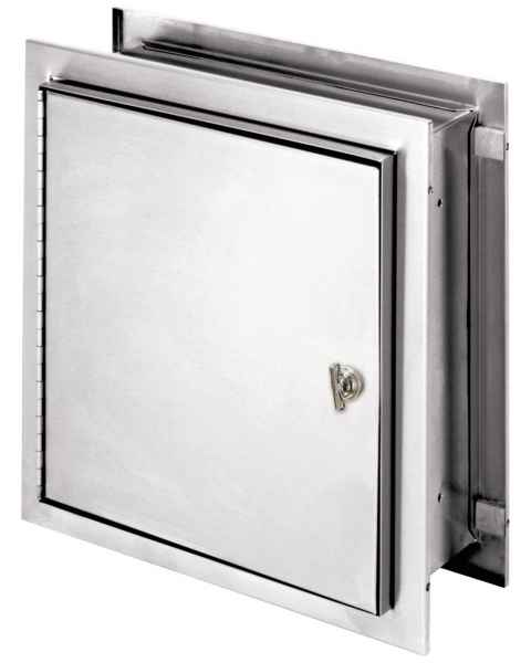 "Pass-Thru Narcotic Cabinet with Thumb Latch - 12"" H x 11.5"" W x 8.25"" D"