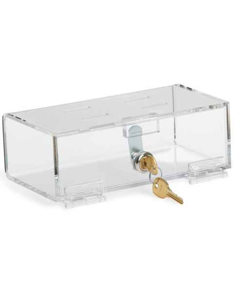 Small Clear Acrylic Refrigerator Lock Box with Key Lock