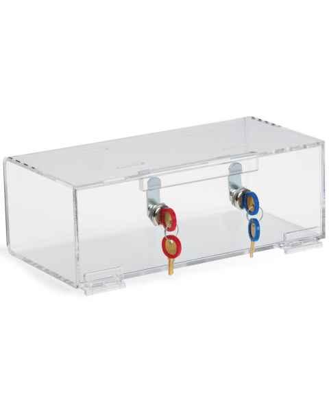 OmniMed 83002 Clear Acrylic Refrigerator Lock Box with Double Key Lock
