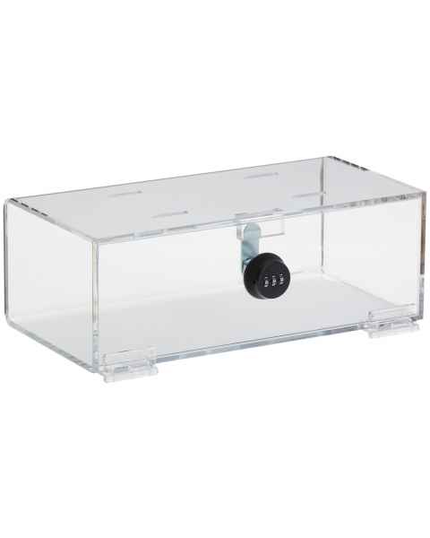 "Refrigerator Lock Box with Combination Lock - Clear Acrylic - 4.25"" H x 12"" W x 6"" D"