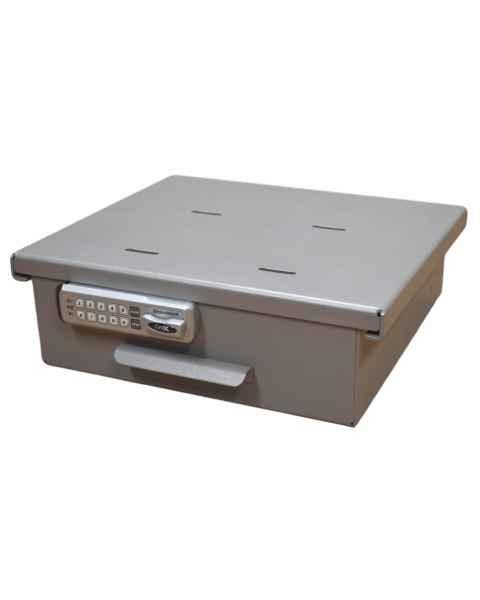 Model 183026 (with E-Lock) & 183026AT (with Audit Trail E-Lock) Omni Medium Aluminum Refrigerator Lock Box