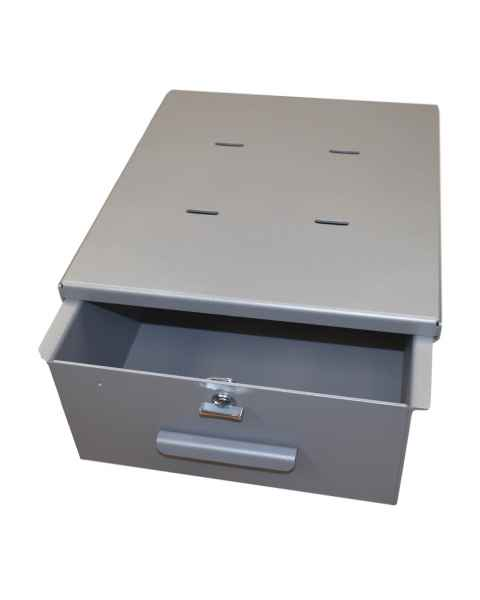 Omni Large Aluminum Refrigerator Lock Box - Large - Thumb Latch
