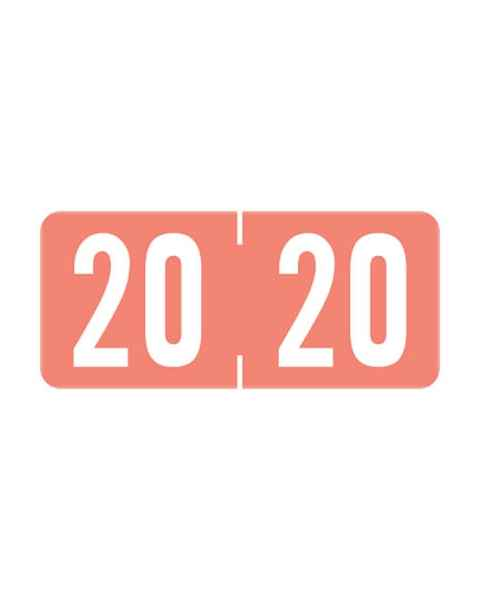 """2020 A1287 Year Labels - Tab 1287 Compatible - Size 1/2"""" H x 1 1/8"""" W"""