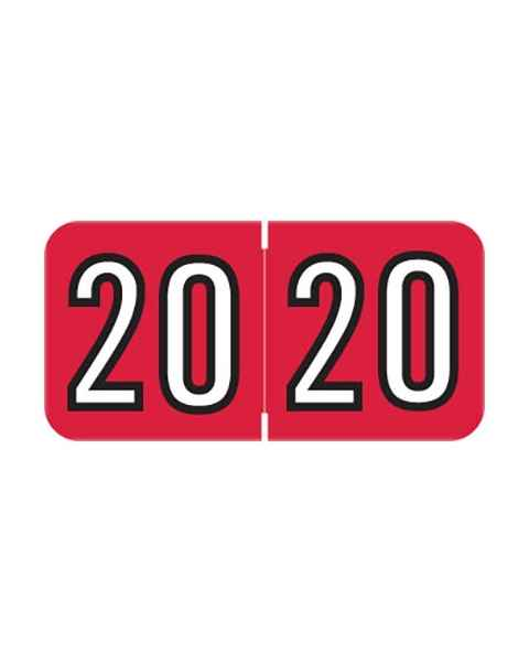 "2020 BAYM Year Labels - Barkley Compatible - Size 3/4"" H x 1 1/2"" W"