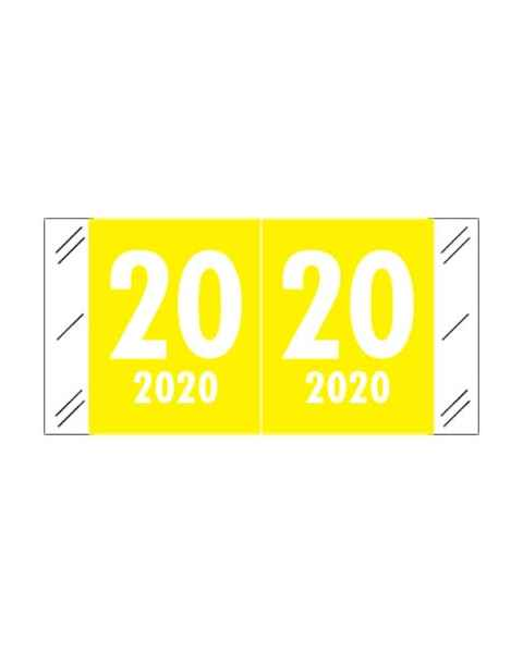 "2020 CRYM Year Labels - Col'R'Tab Compatible - Size 3/4"" H x 1 1/2"" W"