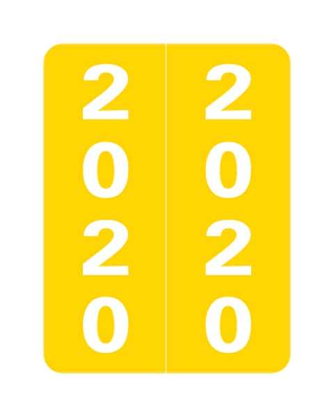 """2020 SLYM Year Labels - Smead Compatible - Size 2"""" H x 1 1/2"""" W"""