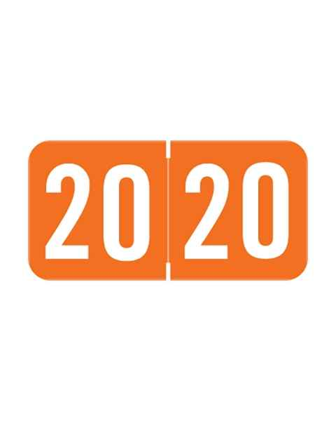 """2020 STYM Year Labels - Sav-Tyme Compatible - Size 3/4"""" H x 1 1/2"""" W"""