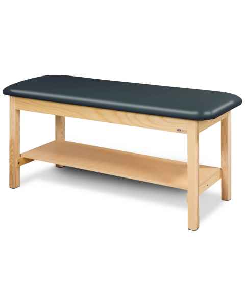 Clinton Model 200 Flat Top Classic Series Straight Line Treatment Table with Shelf