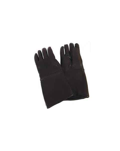 Seamless Lead Leather Gloves - Black