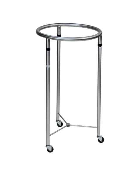 "Blickman Chrome Round Hamper - 18"" Diameter"