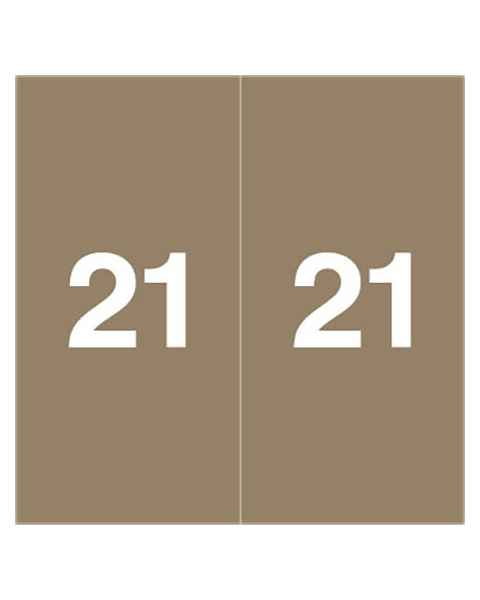 "2021 Year Labels - Ames Compatible - Size 1 7/8"" H x 1 7/8"" W"