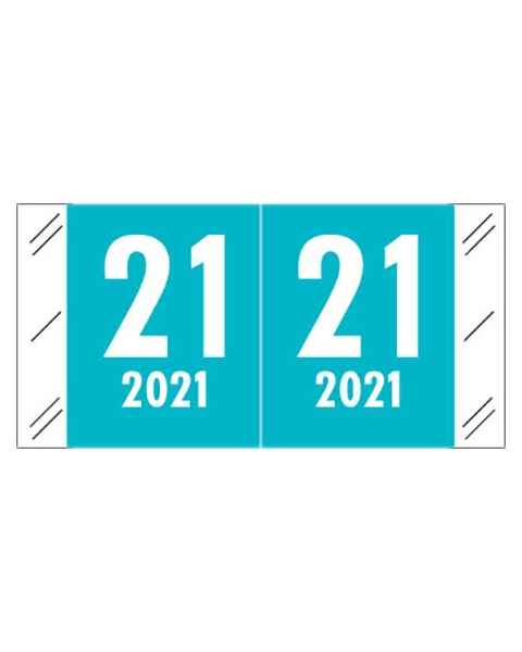 "2021 Year Labels - Col'R'Tab Compatible - Size 3/4"" H x 1 1/2"" W"