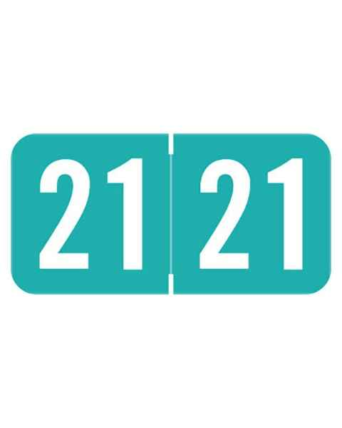 """2021 Year Labels - Sav-Tyme Compatible - Size 3/4"""" H x 1 1/2"""" W"""