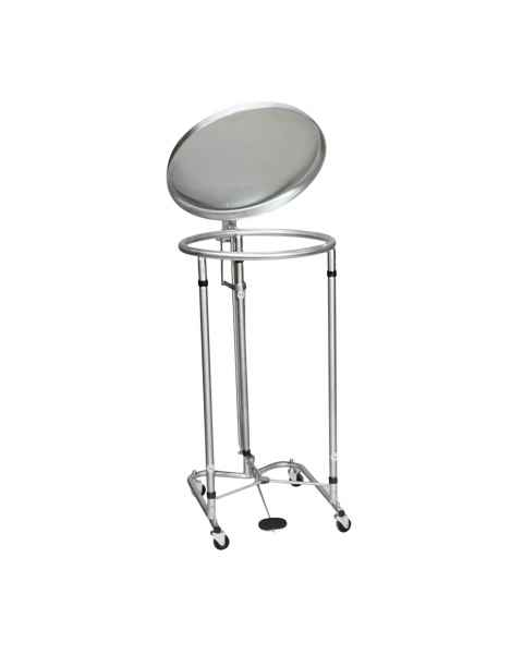 Blickman Model 2118 Chrome Tilt-Top Foot-Operated Round Hamper