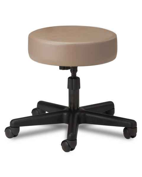 "Clinton Model 2130 5-Leg Spin Lift Stool With 24"" Diameter Black Base"