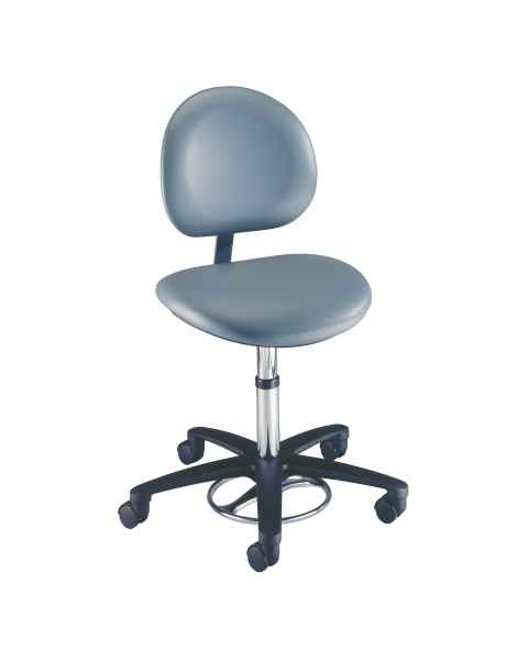 Millennium Seamless Upholstery Surgeon Stool With Backrest