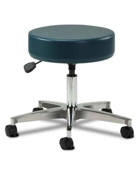 "Clinton Model 2155 5-Leg Pneumatic Stool With 23"" Cast Aluminum Base"