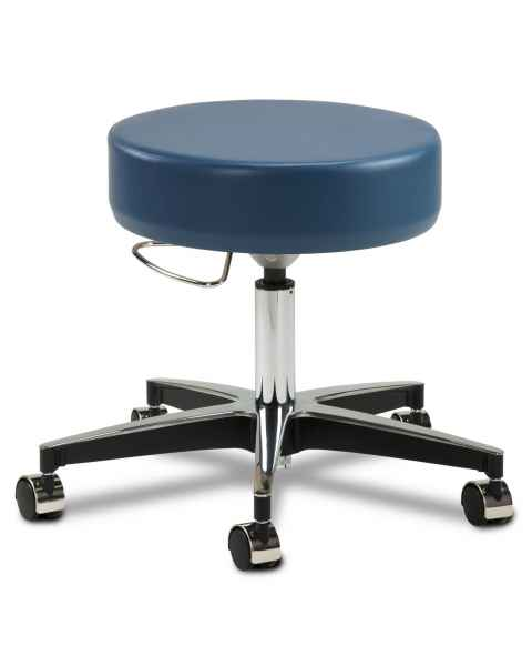 "Clinton Model 2156 5-Leg Pneumatic Stool With 23"" Cast Aluminum Base With Black Accents"