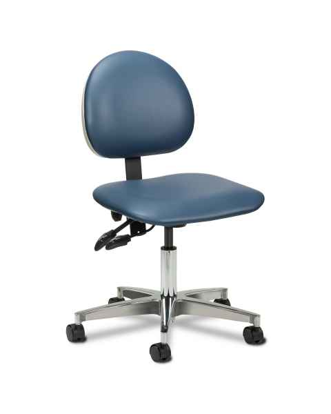 "Clinton Model 2175W 5-Leg Pneumatic Contour Seat Office Chair With 24"" Cast Aluminum Base"