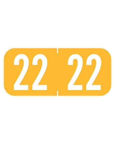"""2022 Year Labels - Tab 1287 Compatible - Size 1/2"""" H x 1 1/8"""" W"""