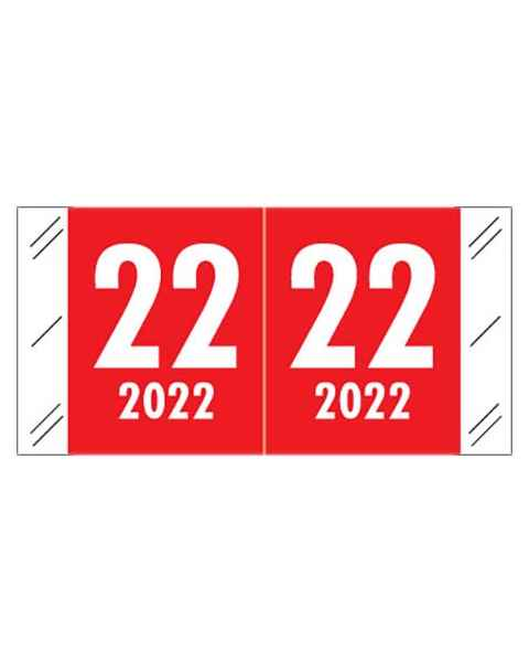 """2022 Year Labels - Col'R'Tab Compatible - Size 3/4"""" H x 1 1/2"""" W"""
