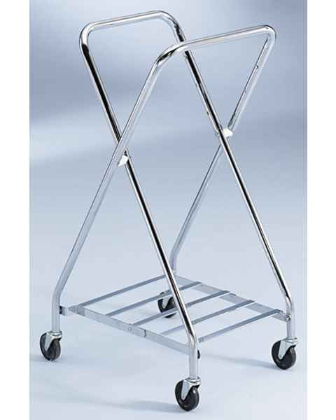 Blickman Chrome Folding Adjustable Hamper