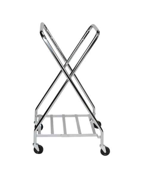 Blickman Chrome Folding Adjustable Hamper