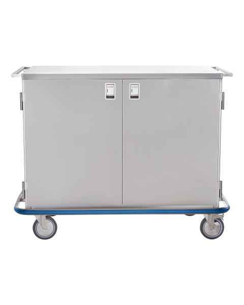 Blickman Stainless Steel Maxi Case Cart Model CCC1-19 - Double Solid Doors