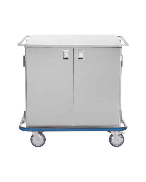 Blickman Stainless Steel Multi-Purpose Case Cart Model CCC2-19 - Double Solid Doors
