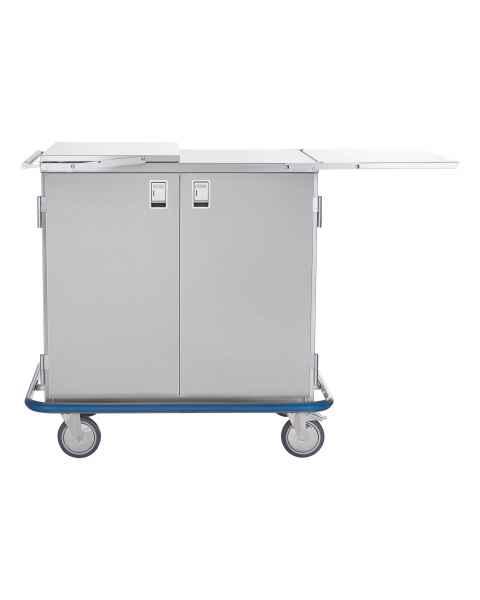 Blickman Stainless Steel Multi-Purpose Case Cart Model CCC2E-19 - Double Solid Doors & Extension Shelves