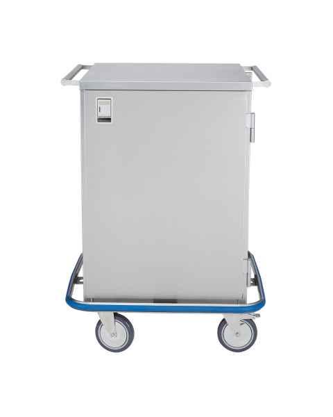 Blickman Stainless Steel Mini Case Cart Model CCC3-19 - Single Solid Door