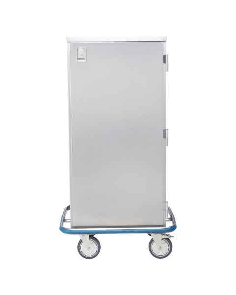 Blickman Stainless Steel Space Saver Case Cart Model CCC4-19 - Single Solid Door