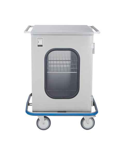 Blickman Stainless Steel Mini Case Cart Model CCC3-19G - Single Glass Door