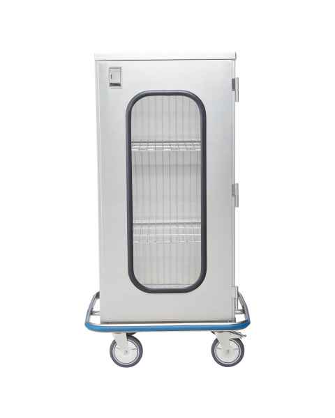 Blickman Stainless Steel Space Saver Case Cart Model CCC4-19G - Single Glass Door