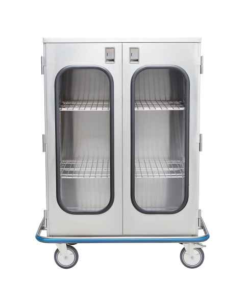 Blickman Stainless Steel Ultra Space Saver Case Cart Model CCC5-19G - Double Glass Doors